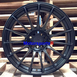 Xxr 550 Flat Black 17 19 Wheels Staggered Rims Concave 5x4 5 04 Ford Mustang Gt