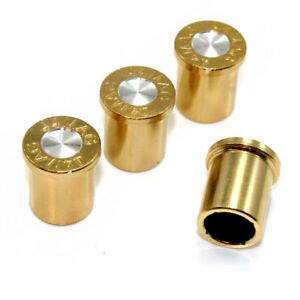 44 Mag Bullet Tire Wheel Air Stem Valve Caps Set For Car Truck Hot Rod Bike