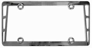 Premium Silver Chrome Metal Billet License Plate Frame For Auto Car Truck