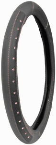 Leather Grey Bling Pink Crystal Stitch Steering Wheel Cover For Auto Car Truck