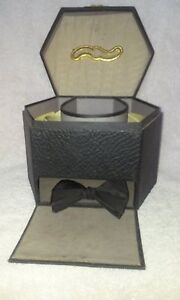 Victorian Collar Box With Two Celluloid Collars Early 1900 S