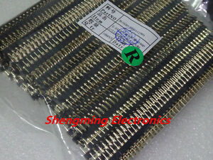 100pcs 1x40 Pin 2 54mm Round Male Pin Gold Plated Header Connector