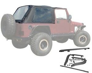 2004 2006 Jeep Wrangler Unlimited Lj Frameless Soft Top W Mounting Hardware Kit