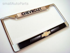 New Chevrolet Chrome Metal License Plate Tag Frame