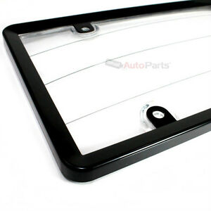 Black Plastic License Plate Tag Frame With Clear Protector For Auto car truck