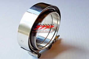 2 Inch Mild Steel Male Female V Band Clamp Flange Kit Turbo Exhaust Downpipes