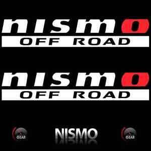Nismo Off Road Decal Stickers White Red Nissan Titan Frontier Bedside Graphics