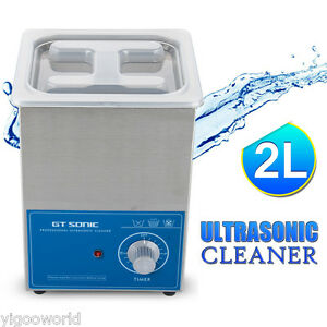 New 2l Strong Stainless Steel Cleaner Ultra Sonic Bath Cleaning Tank Timer Heate