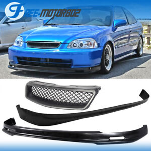 Fits 96 98 Honda Civic 3dr Front Rear Bumper Lip Type R Style Grill