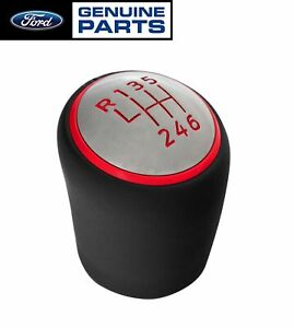 2015 2020 Mustang Shelby Gt350 Genuine Ford 6 Speed Shifter Shift Knob Red Trim