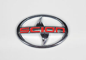For Scion Large Emblem Badge Sticker Tc Xa Trunk Grille Red Letter Jdm New