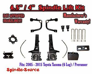 2005 2016 Toyota Tacoma Prerunner 6 5 4 Lift Kit Spindles Upper Arms Uca