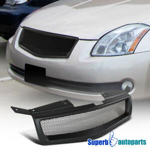2004 2006 Fit Nissan Maxima Jdm Black Abs Mesh Style Front Hood Grille Grill