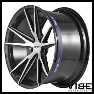 22 Zenetti Venice Machined Concave Wheels Rims Fits Bentley Continental Gt