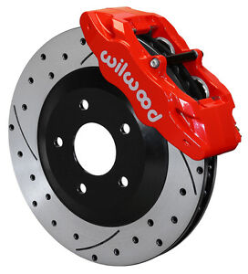 Wilwood Disc Brake Kit Front 97 13 Corvette C 5 C 6 Z06 Rotors Calipers Pads Red