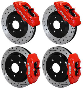 Wilwood Disc Brake Kit 1997 2013 Corvette C 5 C 6 Z06 Rotors Calipers Pads Red