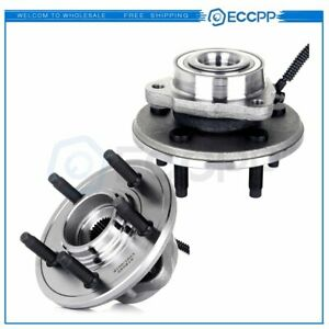 New Both 2 Brand Complete Wheel Hub And Bearing Assembly Abs Ford Explorer