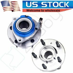 2 Wheel Hub And Bearing Assembly Pair Set Of Front Fits Gmc Chevy Buick W abs