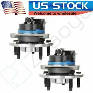 2 Front Wheel Hub Bearing Assembly Pair Set For Oldmobile Chevy Pontiac W Abs
