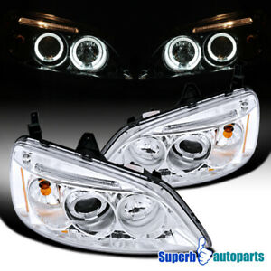 For 2001 2003 Honda Civic Jdm Projector Headlights Head Lamps Clear Specd Tuning