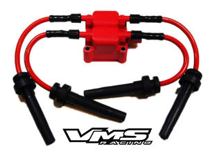 Vms Racing Replacement Ignition Coil 10mm Spark Plug Wires 03 05 Dodge Neon Srt4