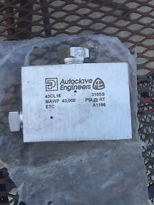 Parker Autoclave Engineers 43cl16 1 elbow