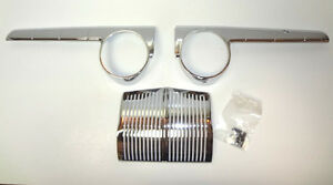 Ford 3 Piece Chrome Dash Set Made In Usa 1942 1948