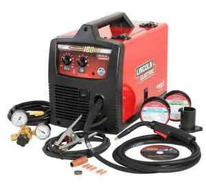 Lincoln 230v 180 amp Weld Pak Mig Flux Cored Wire Feed Welder Welding Machine