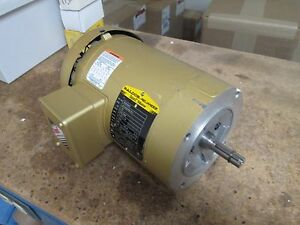 Baldor Super e Motor Vem3542 0 75hp 1750rpm 230 460v 2 28 1 14a 60hz Used