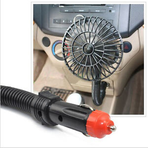12v Car Fan Cigarette Lighter Caravan Truck Boat Vehicle Cooler Adjustable New