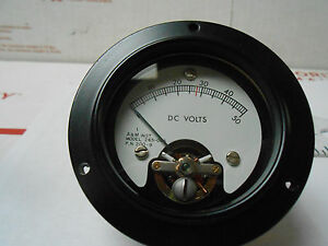 265 066 A m Meter Dc Volts 0 50 Red Line At 28v New Old Stock