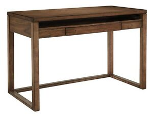 Baybrin Contemporary Rustic Brown Home Office Small Desk