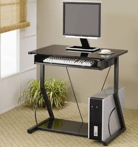 Transitional Black Black Computer Desk