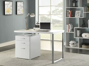 Hilliard White Wood Metal Writing Desk