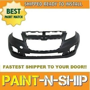 Fits 2013 2014 2015 Chevy Spark Front Bumper W Integral Lwr Grille Painted