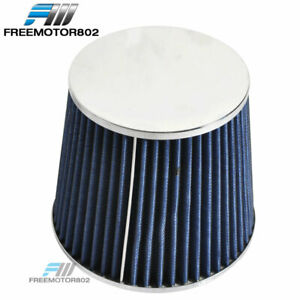 Cold Short Ram Intake High Flow Cone Blue Air Filter 3 Inch Car Truck Suv