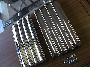 68 69 70 71 72 Nova Pair Of New Fender Steel Chrome Side Louver Emblems