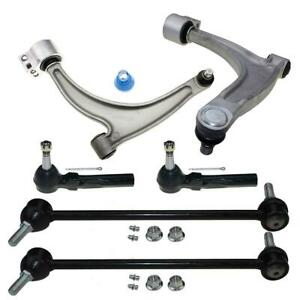 For Chevy Malibu G6 Aura 6pc Front Lower Control Arm Ball Joint Tie Rod Sway Bar