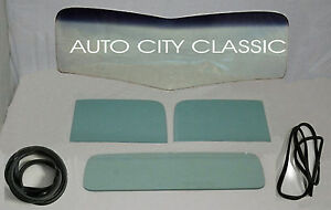 Green Glass 1940 1942 Ford Pickup Windshield Door Back And Gaskets