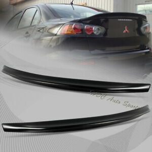 For 2008 2017 Mitsubishi Lancer Evo 10 Black Abs Rear Trunk Duck Lid Spoiler
