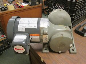 Emerson Ac Motor W Gear E183 0 75hp 1750rpm 208 230 460v 3 2 1 6a Used