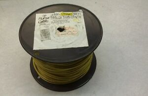 Wire 14awg Thhn Or Thwn Or Mtw Stranded Yellow Wire 500ft New