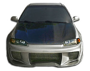 92 95 Honda Civic Duraflex W Sport Front Bumper 1pc Body Kit 106926