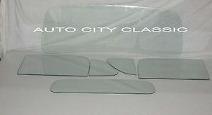 Glass 1948 1949 1950 Ford Pickup Windshield Vent Door Back Clear Window Set