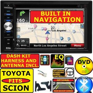Fits Toyota Scion Gps Nav System Dvd Cd Usb Video Bluetooth Car Radio Stereo
