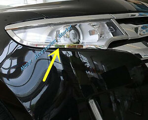 New Chrome Head Light Eyelid Trim For Ford Edge 2011 2012 2013 2014