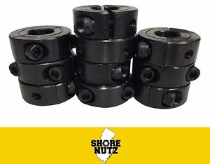 10 1 1 4 Double Split Steel New Clamping Shaft Collar Black Oxide Sc125d