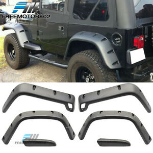 For 98 06 Jeep Wrangler Tj 7 Wide Pocket Style Protector Fender Flares 6pc Set