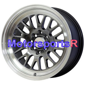 Xxr 531 15 15x8 Chromium Black Wheels Rims 20 Stance 94 98 01 Acura Integra Gsr