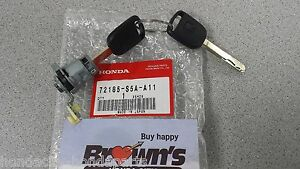 New Genuine Honda Civic 2004 2005 Drivers Door Lock Cylinder 72185 S5a A11